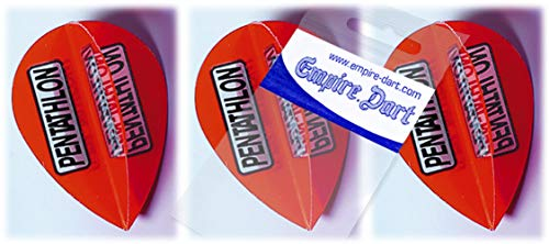 Empire Dart Flight-Set Polyester extra Strong Pear