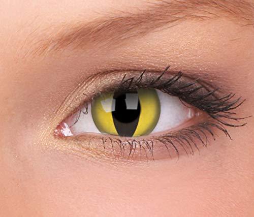 Halloween Kontaktlinse Lustige Linse Katzenauge 3 Monate Einweg 14 mm stärke 0.00 von ColourVUE entfernt