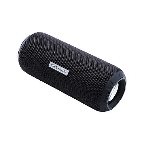 HIOD Bocina Bluetooth - Altavoz Inalámbrico Al Aire Libre IPX5 Impermeable Portátil Subwoofer Sonido Envolvente 8h de Tiempo de Juego Apoyo Micro SD/AUX,Black