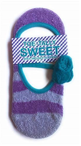 Bath & Body Works Shea Infused Slipper Socks Striped Multi-color One Size - Lavender