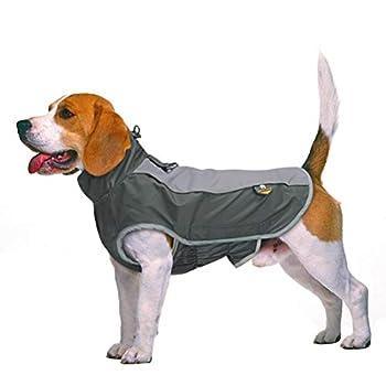 POPETPOP Manteau imperméable pour chien avec anneaux en D pour petits chiens de taille moyenne et grands chiens à pied en plein air