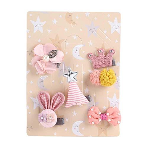 Accessoires de cheveux de bébé filles, 6 pièces en épingle à cheveux ensemble forme mignonne bowknot bandeau décoration accessoire de cheveux pour béb