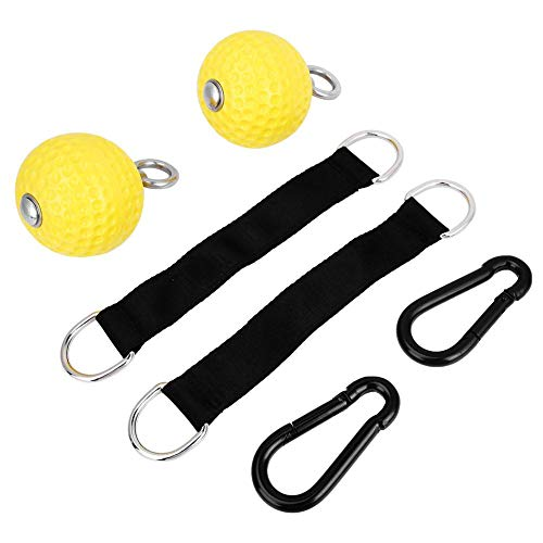 Climbing Pull Up Hold Grips Climbing Solid Training Cannonball Bomb Ball for Straps for Finger, Forearm, Biceps, Back Muscles, Pull Up Arm Strength Training Hanging Ball