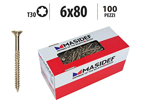 Preisvergleich Produktbild Profi Holzschrauben Rapid® 2000 torx pro verzinkt gelb 6X80 100 PZ