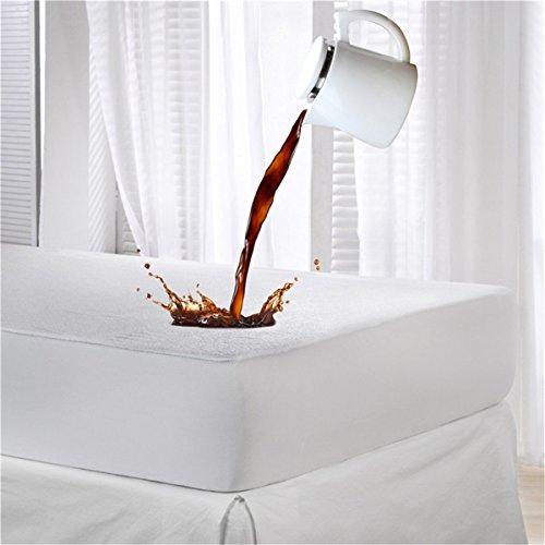 Dudu N Girlie Terry Cotton 100 Percent Waterproof Cot Bed Mattress Protector, 70 cm x 140 cm