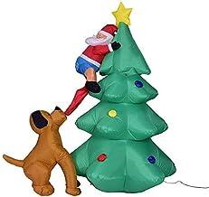 QXM Opblaasbaar Speelgoed Kerstmis Speelgoed Thuis Tuin Ornament Decoratie Opblaasbare Led Lit Kerstboom Gazon Yard Decoratie