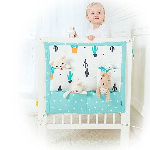 9 poches pour chevet de lit de bébé - Rangement à suspendre dans une chambre de bébé - Rangements pour vêtements, couches, jouets