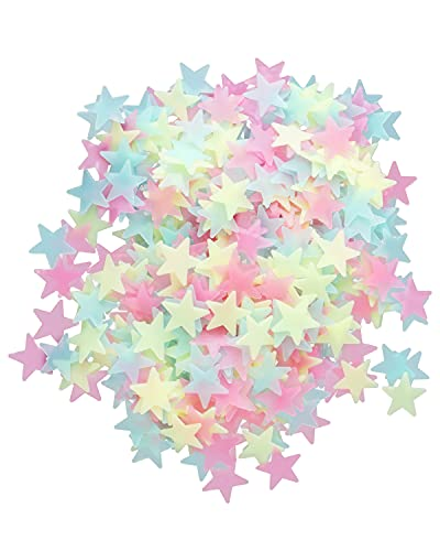Glow in The Dark Stars for Ceiling, 500 Pcs 3D Star Stickers, Glow Stars for Kids Room Decor and...