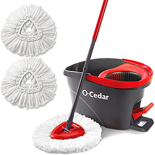 O-Cedar EasyWring Microfiber Spin Mop & Bucket For Floors