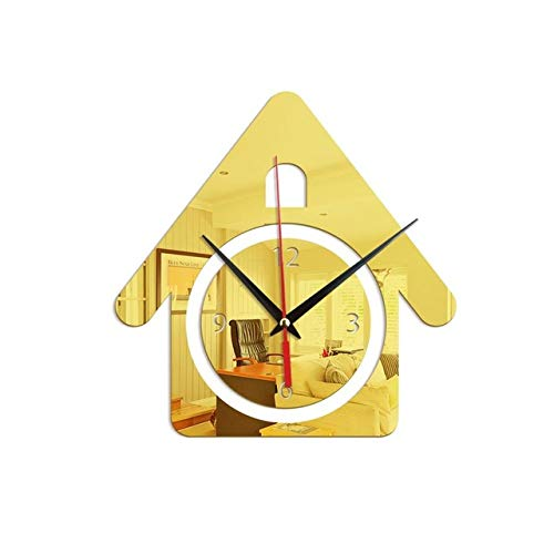 Relojes de pared para habitaciones de niños Espejo de acrílico Reloj de pared Números de figuras de…