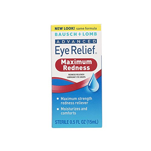 Bausch and Lomb Advanced Redness Relief Drops, 0.5 Ounce - 3 per case.