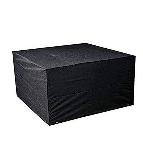 FCZBHT Couverture de Meubles De Plein Air Jardin Meubles Housse De Protection, Convient À Tables Et Chaises/Canapé Garde poussière (Couleur : Noir, Taille : 250 * 250 * 90cm)