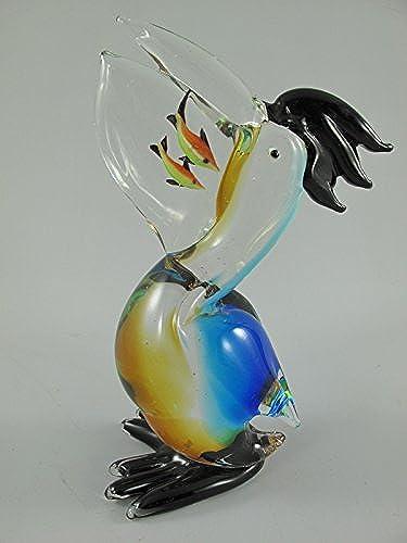 Glasfigur Vogel farbe H.25cm