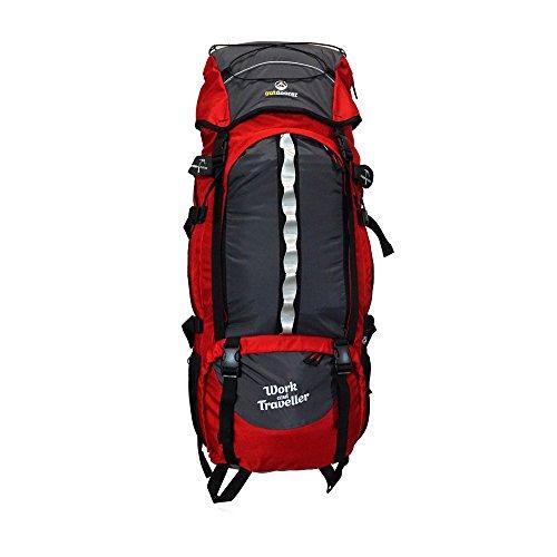 outdoorer Work and Travel Rucksack Work & Traveller 75+10 - großer Backpacker-Rucksack mit Frontzugriff, Frontlader-Rucksack für Reisen und Backpacking, 85 l