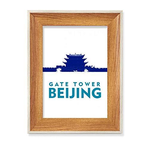 Beijing City Tourism Portal Escritorio Marco de Fotos de Madera Pantalla Imagen Arte Pintura Múltiples Conjuntos