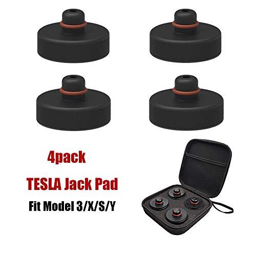 EVAUTO Tesla Model 3 Jack Lift Pad Point Adapter für Model Y Model S Model X mit Aufbewahrungstasche, 4 Stück