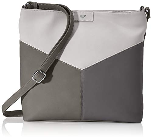 TOM TAILOR Schultertasche Damen, Grau, Bari, 33x9x30 cm, Handtasche, Shopper