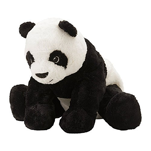 Ikea KRAMIG 902.213.18 Panda, Soft Toy, White, Black, 11.75 Inch, Stuffed Animla Plush Bear