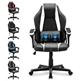 Yaksha PC Gaming Chair,Ergonomic Office Chair Desk Chair with Massage Lumbar Support,Executive Computer Chair Computer Chair with Height Adjustable(Polar White)