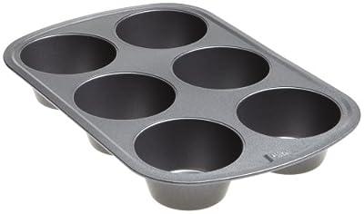 Good Cook 04033 Non-Stick Texas Muffin Pan, Steel, 3-1/2 in Dia x 16-1/2 in L x 10 in W x 8.7 in H