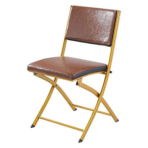 CAIJINJIN Silla de Campamento plegable de Silla plegable Silla plegable plegable Inicio Partido Silla minimalista moderna silla de la manera retro for el Ministerio del Interior Comedor (Color: Marrón