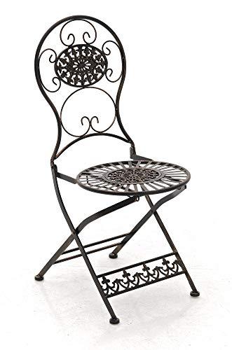 CLP Eisen-Klappstuhl MANI Vintage I Antiker handgefertigter Gartenstuhl aus Eisen I erhältlich, Farbe:Bronze