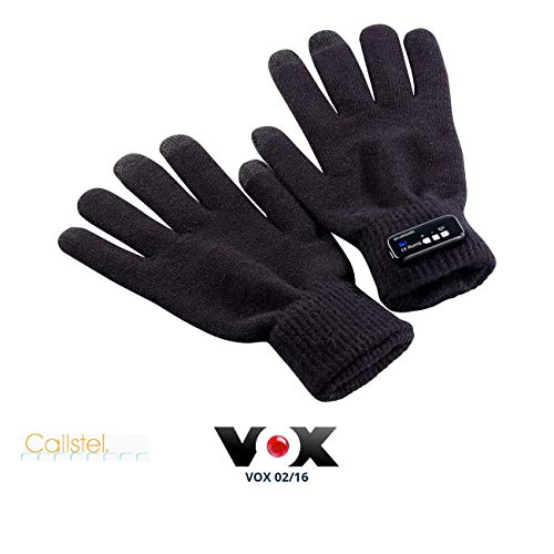 Callstel Handy Handschuhe: Freisprech-Handschuh Polyester mit Bluetooth, 1 Paar in Herrengröße (Mobiltelefon-Handschuhe)