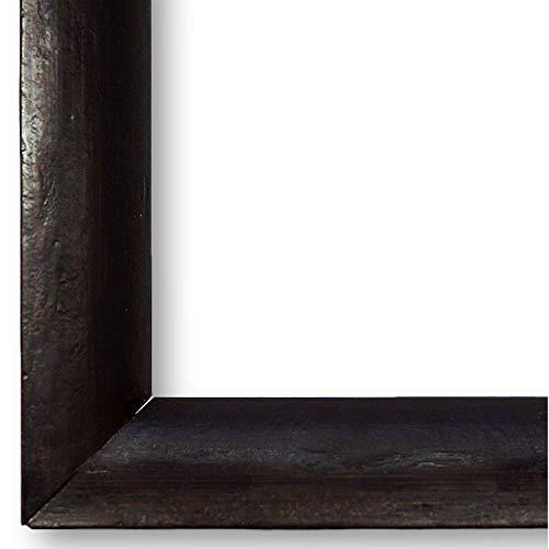 Bilderrahmen Dresden Schwarz-Braun 2,5 I 30 x 60 cm mit Plexiglas (WRP) I handgefertigte Holz Fotorahmen Posterrahmen Urkundenrahmen I Holzrahmen mit Glas I inklusive Montagematerial