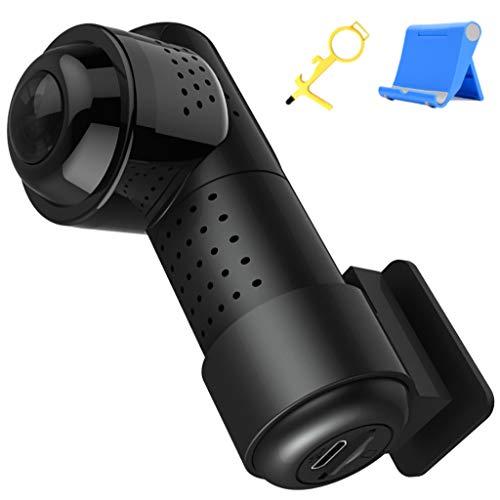 LPWCA Dashcam Auto,360° Panorama 2160P HD Mini Autokamera Dash Cam Mit WiFi,Infrarot Nachtsicht, G-Sensor, Loop-Aufnahm