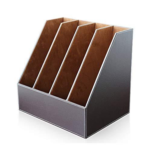 Caja de Almacenamiento de Papelería Popular Carpeta de documentos Libro Marcos Dividers Organizador de almacenamiento para el hogar u oficina Regalo Practico ( Color : Coffee , Size : 36x27x34.5cm )