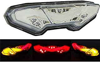 waase Motorcycle Parts Rear Tail Light Brake Turn Signals Integrated Led Light (Clear, For Yamaha MT-09 MT09 Tracer/FJ-09 FJ09 2015 2016 2017 2018)