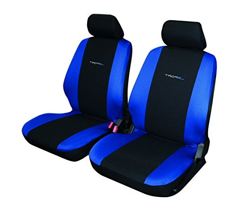 Carfactory - Funda de asiento delantera universal para coche, modelo DAYTONA, color azul, 4 piezas.