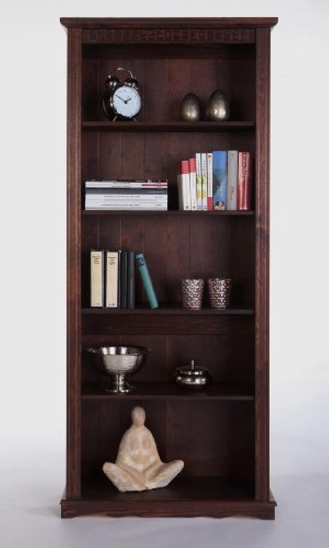 Bücherregal, Standregal Kiefermassiv H.180cm Mocca