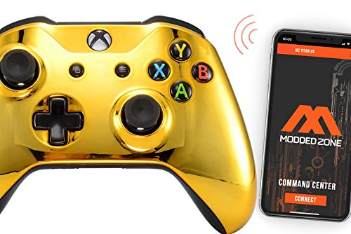 Gold Smart Rapid Fire Custom Modded Controller for Xbox One S Mods FPS Games and More. Control and Simply Adjust Your mods via Your Phone!