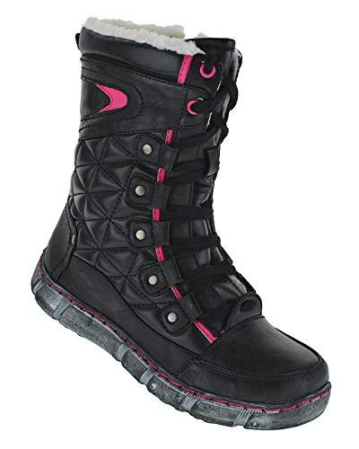 Bootsland 828 Winterstiefel Stiefel Winterschuhe Damenstiefel Damen, Schuhgröße:36