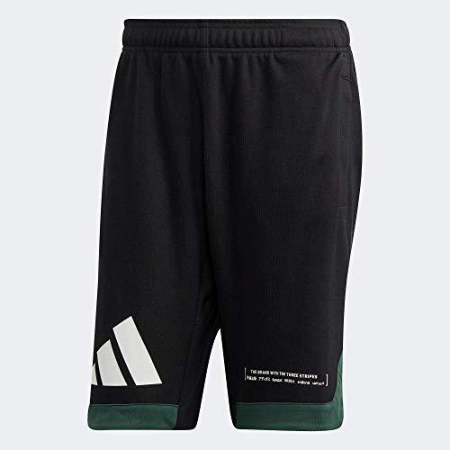 adidas Herren Short Pack Basketball Short, Black/Cgreen, L, FP9375