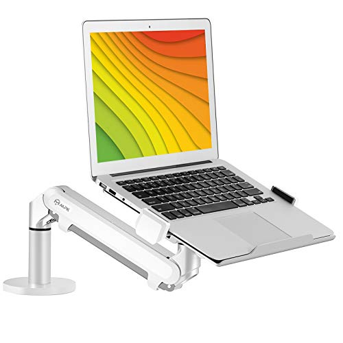 GMFIVE Laptop Stand Portable Multiple-Angle Ventilated Desktop Laptop Holder Universal Lightweight Adjustable Ergonomic Tray Mount Compatible with Most Laptop Notebook Computer Tablet Silver