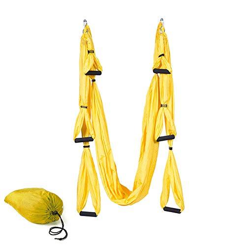 Columpio de yoga antigravedad Asana Yoga, de nailon de tafetán 210T (amarillo)