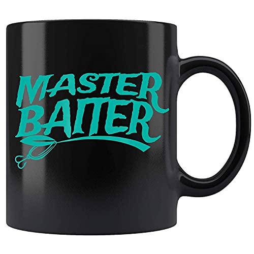 N\A Camisa de Master Baiter, Pesca para Hombres Taza de té de cerámica Divertida Taza de café