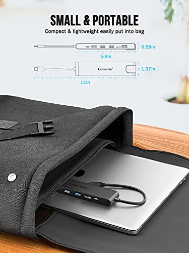 Hub USB C con Ethernet RJ45 de 10/100/1000M - 8 en 1, Lemorele Adaptador USB C Hub con HDMI 4K, PD 100W, 2 USB 3.0,Lector SD/TF,Hub C para MacBook Air/Pro M1,iPad Pro M1,Windows, Switch,Teléfono Móvil