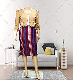 EMF Women's Knee Length Straight Skirt