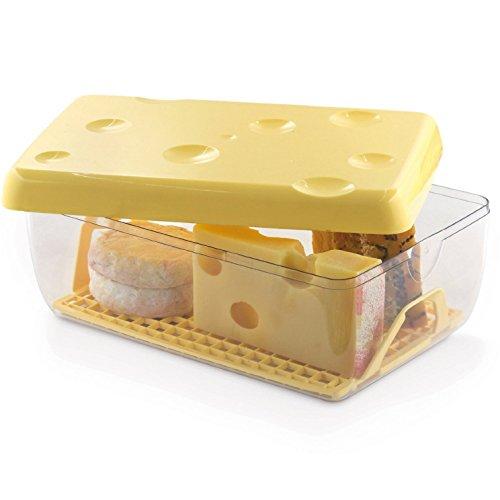 Questo contenitore è la soluzione ottimale per conservare tutti i tipi di formaggio in frigorifero, grazie anche alla pratica griglia! Chiusura ermetica salva freschezza Dimensioni:26cm x 17cm Altezza 10,5cm