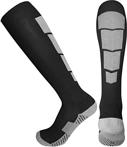 Elite Athletic Socks - Over The Calf - Black (Large, Black)