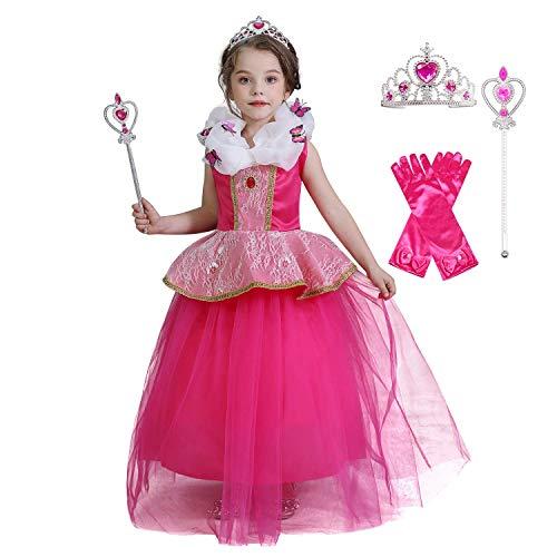 TTYAOVO meisjes prinses Aurora jurk slapen schoonheid Dressing up kostuum
