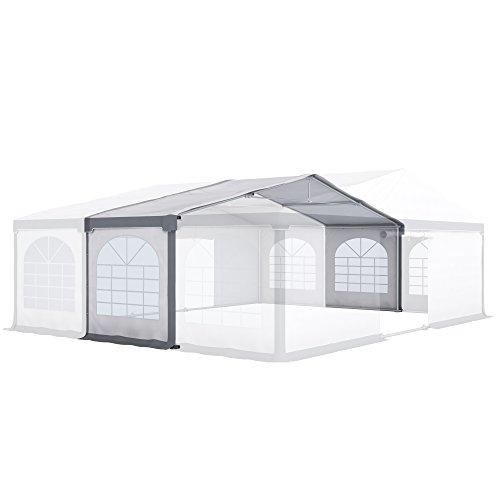 PARAMONDO Partyzelt Flex L Modulo di espansione 8 x 2m, Bianco-Grigio