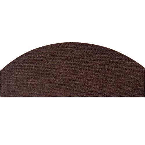 Jourad Treppenteppichpolster 65 cm X 24 cm Große Treppenstufen-Teppiche rutschfeste Treppenabdeckungen Selbstklebende Bullnose-Teppiche