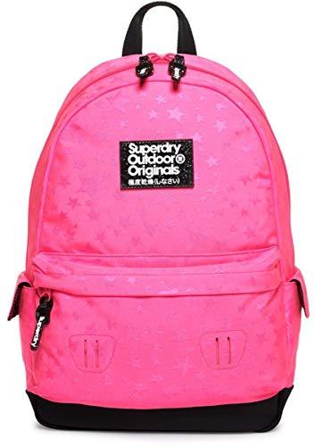 SUPERDRY Star Jacquard Montana Backpack- Fluro Pink G91905JT-28R