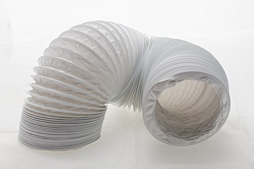 Tubo de salida de aire (PVC, diseño flexible, 125/127 mm de diámetro, 6 m de largo, compatible con instalaciones de aire acondicionado, secadoras o campanas extractoras)