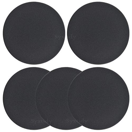 5 Pack Premotor Filter for Bissell Powerforce Helix Bagless Vacuum 2191, 2190, 2254, 2256, 1700,Foam Filters Replace Parts #1608225
