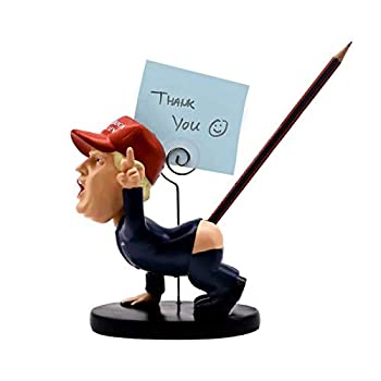 hugs Funny pen holder Cartoon figure statue Trump model memorial doll ornaments White Elephant Gift and Christmas Present